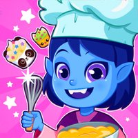 Vampire princess girl cupcake