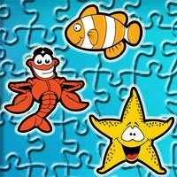 Finding Cute Fish And Sea Animal In The Cartoon Jigsaw Puzzle - Educational Solving Match Games For Kids