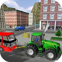 Transport Car Pulling City
