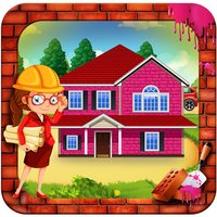 Girl Pink House Construction