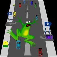 Frog cross the road@