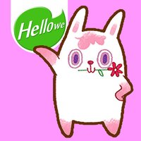 Hellowe Stickers: Pink Rabbit TO Two