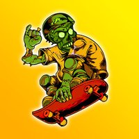 Zombie Skateboarder High School - Life On The Run Surviving The Fire!