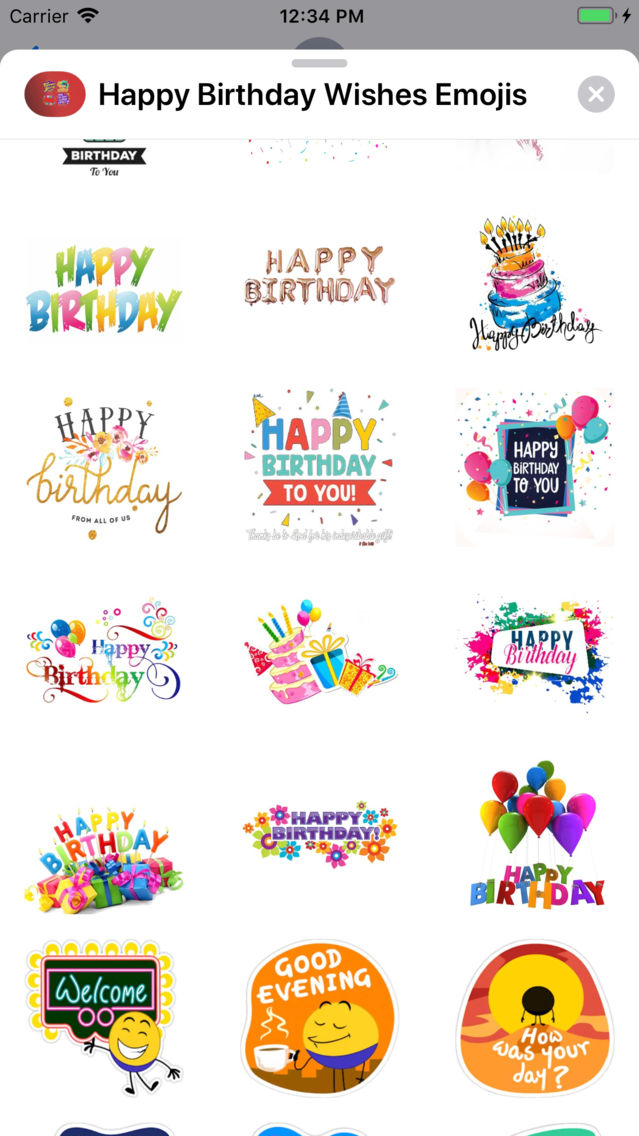 Happy Birthday Wishes Emojis App for iPhone - Free Download
