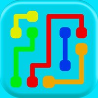 Colorful lines - draw the puzzle and connect the dot for bridge and brain logic
