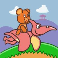 Bear Rider: Dinosaur World - Free Dinosaur Game for Kids
