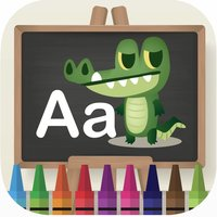 Animal ABC learning coloring book games for kids