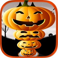 Creepy Funny Halloween Pumpkin Tower Stack LX