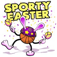 Easter Basketball Stickers