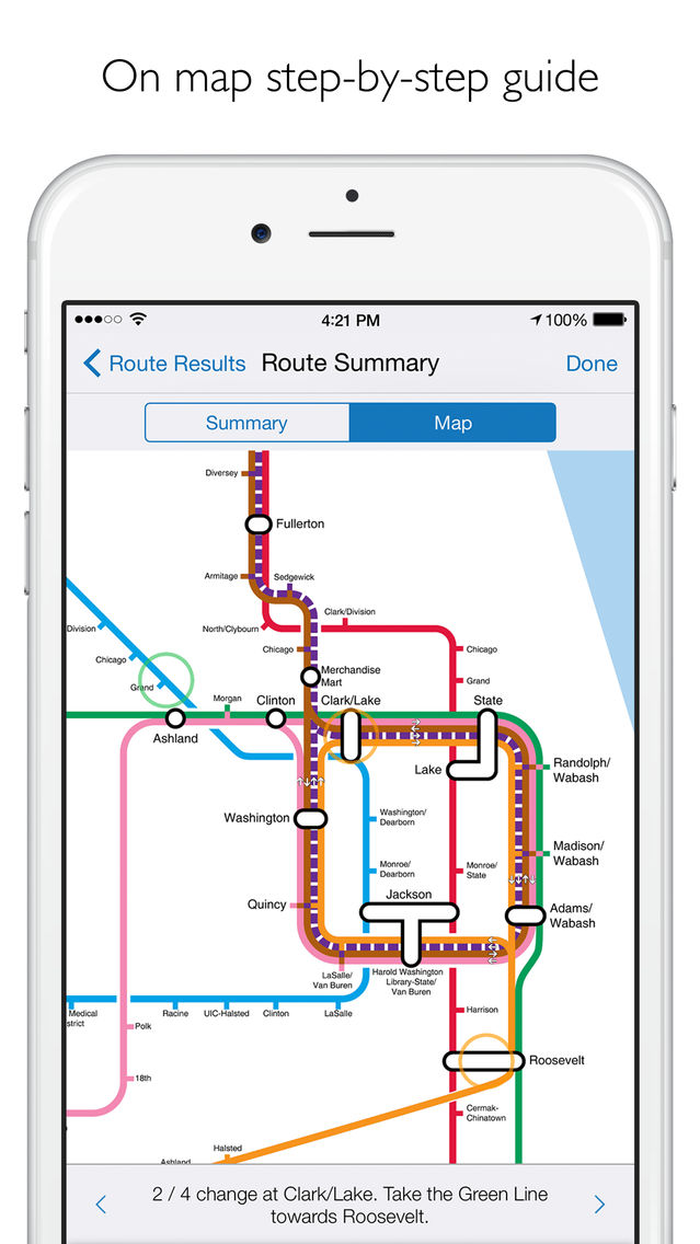 Nyc Mta Subway Map Trip Planner.Chicago L Metro Map With Route Planner App For Iphone Free