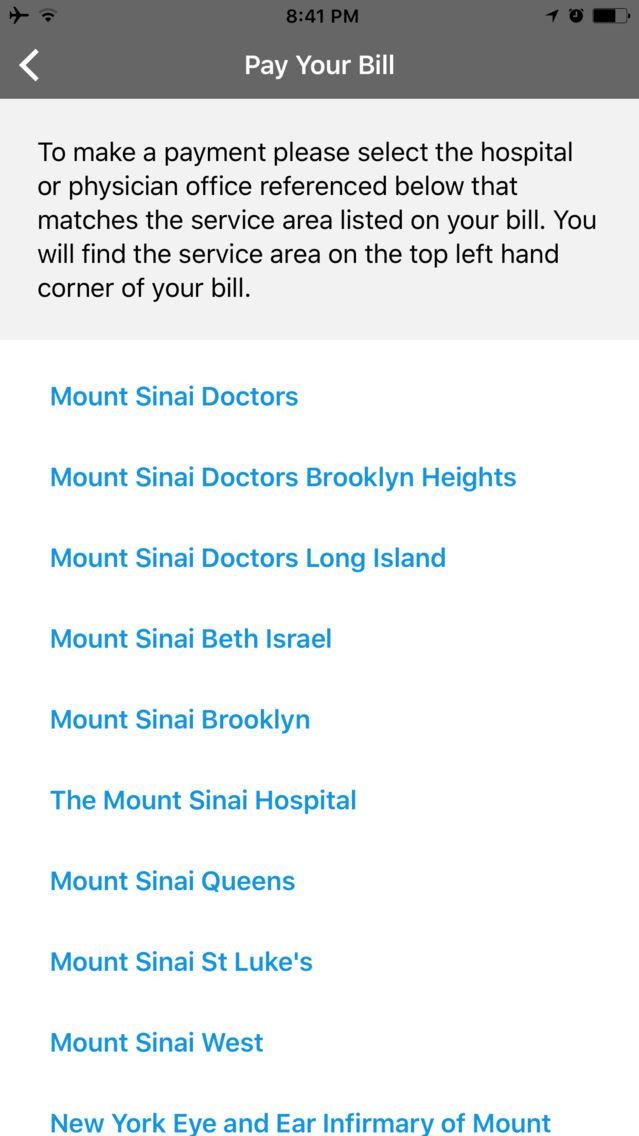 Mount Sinai NY App for iPhone - Free Download Mount Sinai NY