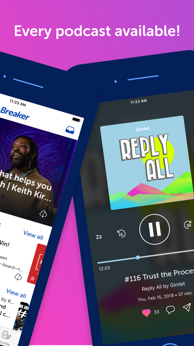 Breaker—The social podcast app App for iPhone - Free Download