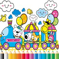 Train Coloring Book - Activities for Kid