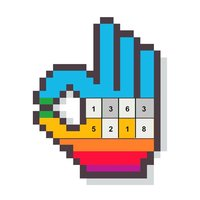 Bloxels Number Coloring Game