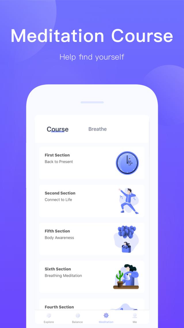 RelaxMe: Calm Sleep Meditation App for iPhone - Free