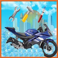 Motorcycle Wash Salon Cleaning & Washing Simulator