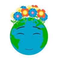 Green Earth Day Animated Emoji