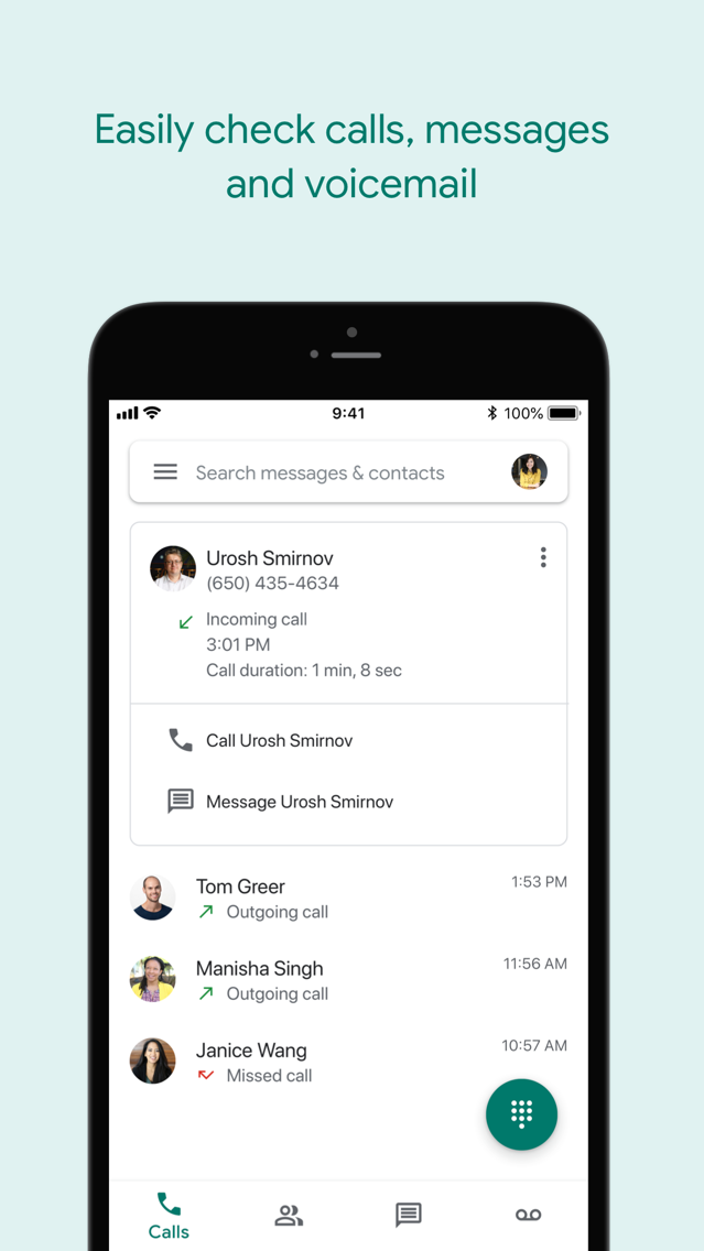 Google Voice App for iPhone - Free Download Google Voice for