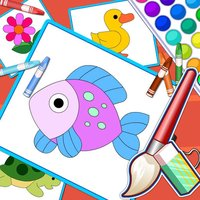 Puzzles And Coloring Games - For Kids Learning Painting and Animals