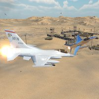 Fighter Plane Desert Combat