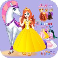 Dress Up White Horse Princess