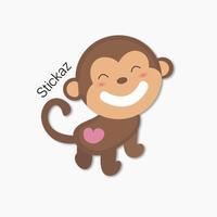 Funny Monkey Stickaz