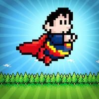 A Retro Super-Hero Power Jump FREE - The Fun 8-Bit Man Race Challenge