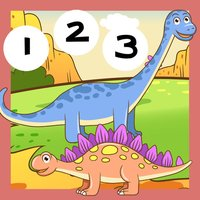 123 Count-ing With Dino-saurs: Learn-ing To Count To Ten. My Kid-s & Baby First Number-s