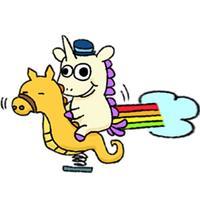 Crazy And Cute Unicorn Sticker