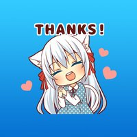 Gisela The Cute Girl Animated English Stickers