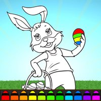 Easter Bunny Eggs ColoringBook FREE