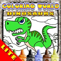 Coloring World: It's Dinosaurs (Lite)! - My Free Dino Fingerpaint Book for Kids