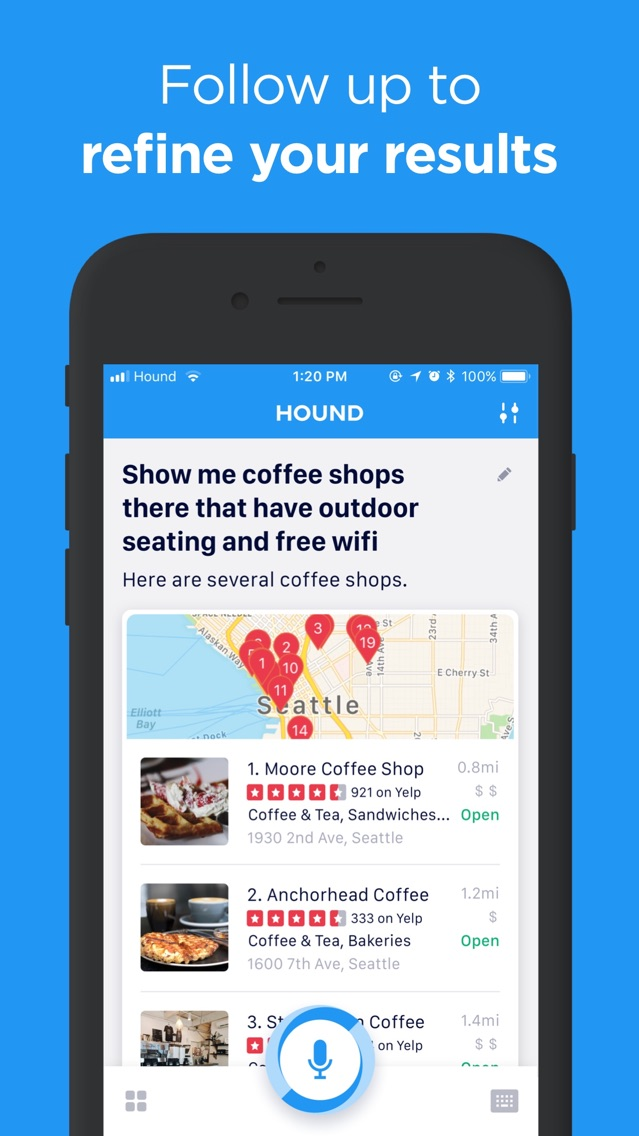 HOUND Voice Search & Assistant App for iPhone - Free Download HOUND