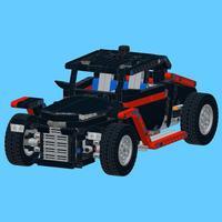 Retro Car for LEGO Technic 9395 Set - Building Instructions