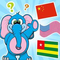 ABC宝宝认知学汉字大巴士认识国旗和国家