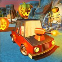 Scary Halloween Shooting Car