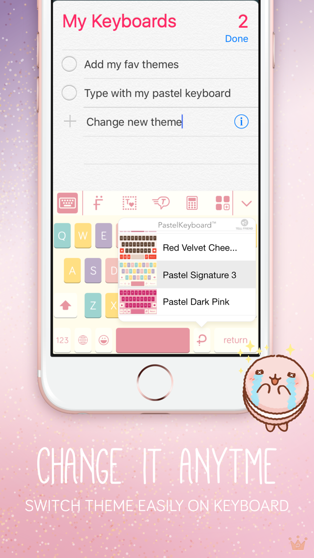 Pastel Keyboard - VIP Premium App for iPhone - Free Download