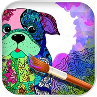Mandalas dog - Coloring pages for adults