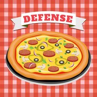 Pizza Defense : Pizza games, bug games,killing games